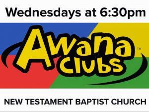 AWANA Wednesdays at 6:30PM